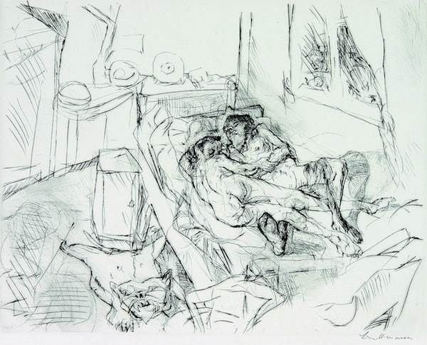 Max Beckmann, Liebespaar I (Lovers I)