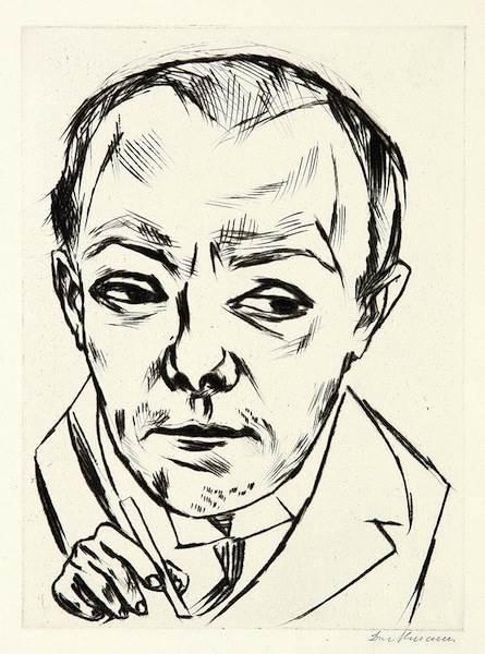 Max Beckmann, Selbstbildnis (Self Portrait)