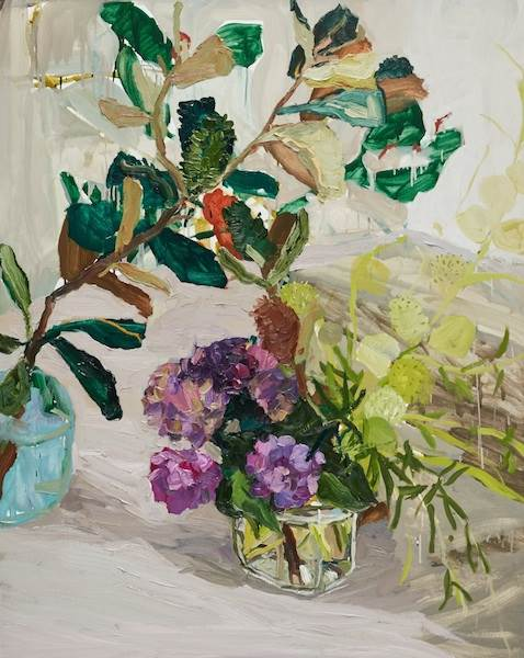 Laura Jones, Banksia Hydrangea and Balloon Plant