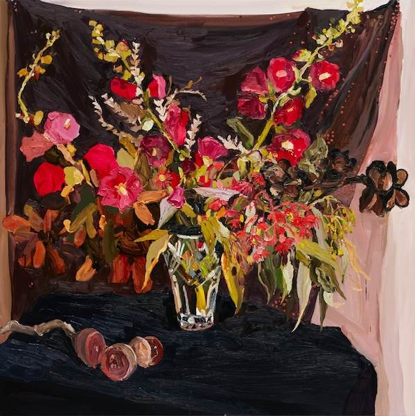 Laura Jones, Burnt banksia and hollyhocks