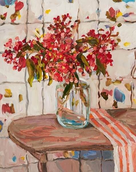 Laura Jones, Flowering Gum and Striped Cloth