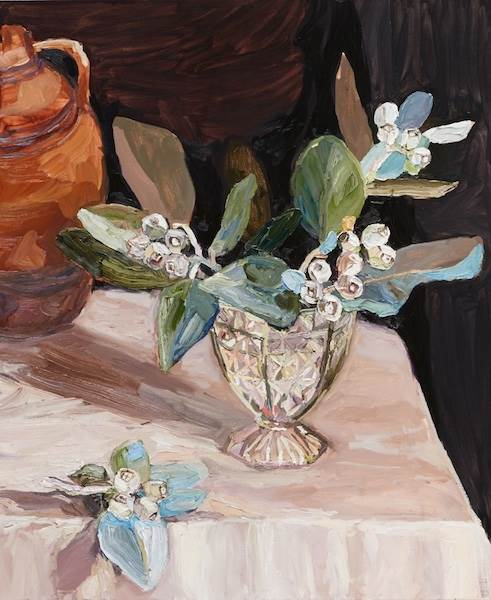 Laura Jones, Tallerack in crystal vase