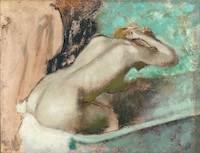 Edgar Degas, Edgar Degas, Woman seated on the edge of the bath sponging her neck