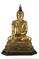 Lacquer and gilt Buddha, 1870s, Shan State, Myanmar