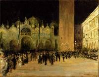 Jacques-Emile Blanche 1861-1942 , Place Saint Marc a Venise Le Soir 1912