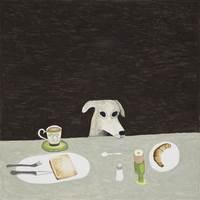 Noel McKenna, Tall dog at table
