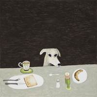 Noel McKenna, Tall dog at table