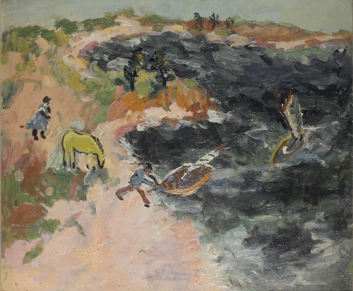 Arthur Boyd, Man launching boat