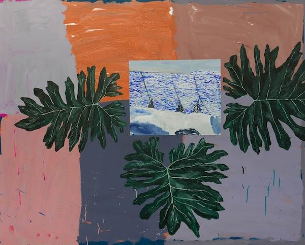 Sally Anderson, Cut Out Studio Monstera Leaves with Lennox Point Lookout