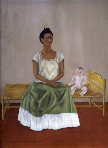Frida Kahlo, Self-portrait with bed (Me and my doll)
