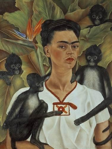 Frida Kahlo, Self-portrait with monkeys