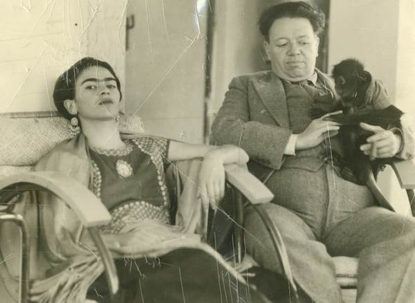 Photographer unknown, Frida and Diego with Fulang Chung