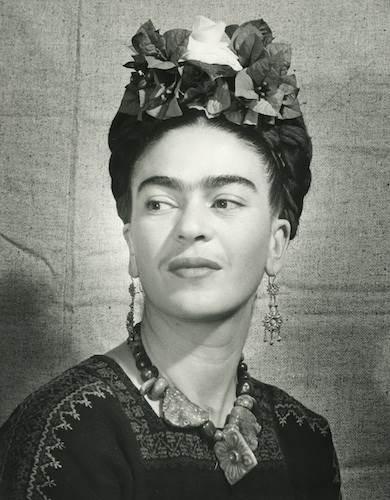 Bernard Silberstein, Frida with flowers in her hair