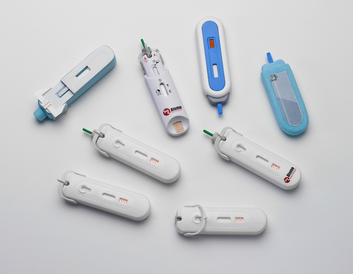 MicroRapid lateral flow blood test device and prototypes