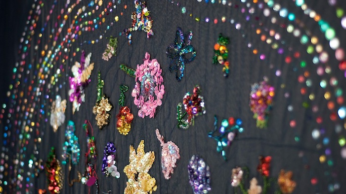 Liam Benson, Community Participatory Embroidery, Thoughts and Prayers