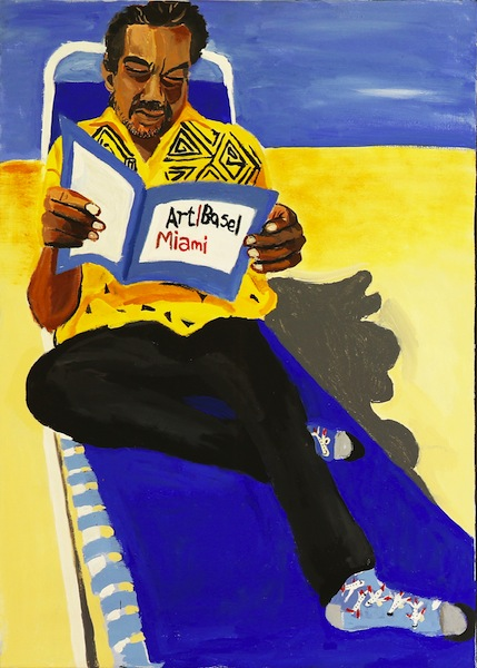 Vincent Namatjira, Self Portrait (Miami Beach 2)