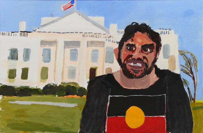 Vincent Namatjira, Self Portrait (The White House)